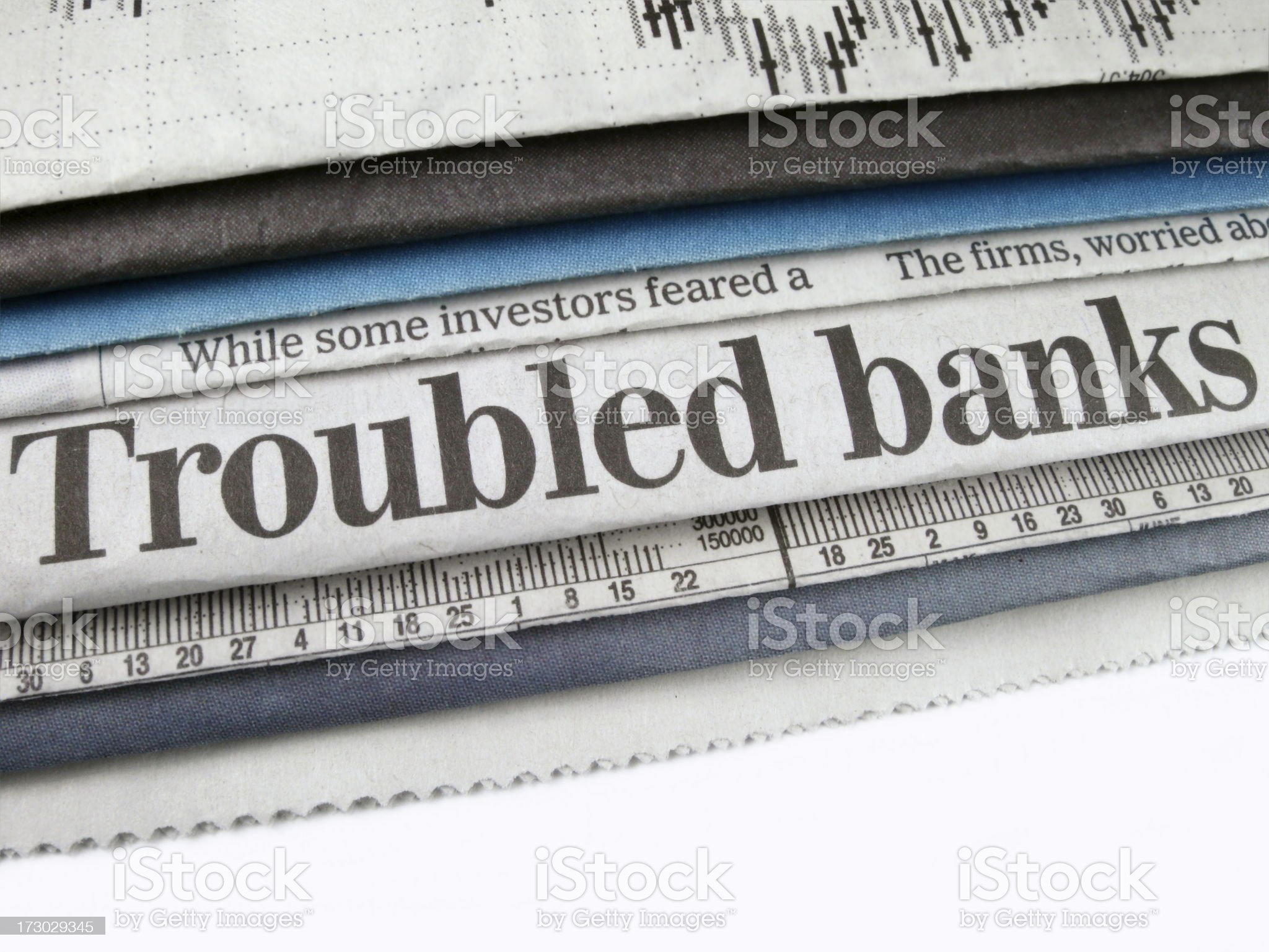 Troubled Banks royalty-free stock photo