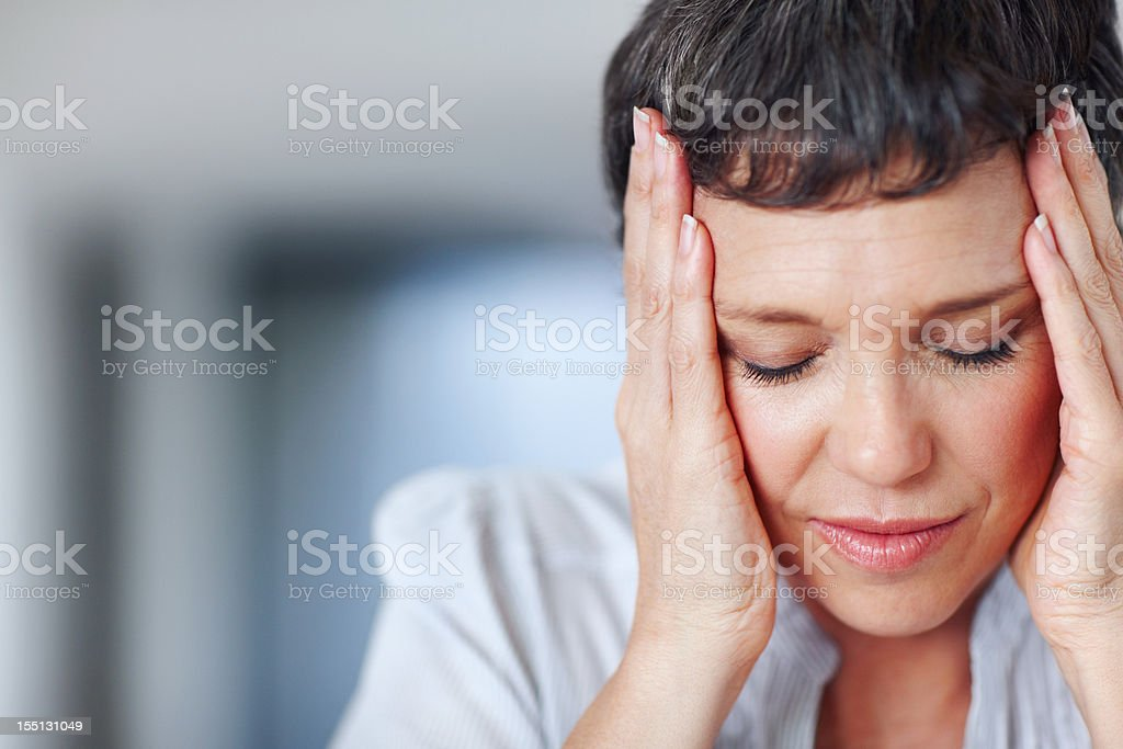 Troubled business woman royalty-free stock photo