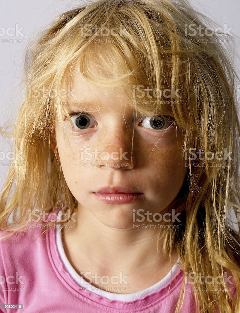 Troubled Child royalty-free stock photo
