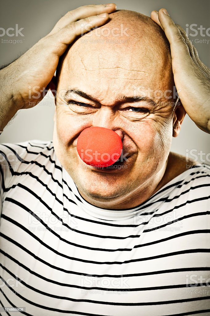 Troubled clown royalty-free stock photo