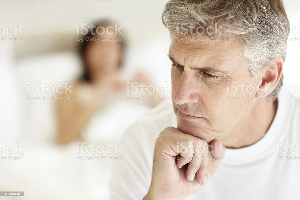 Troubled Couple royalty-free stock photo