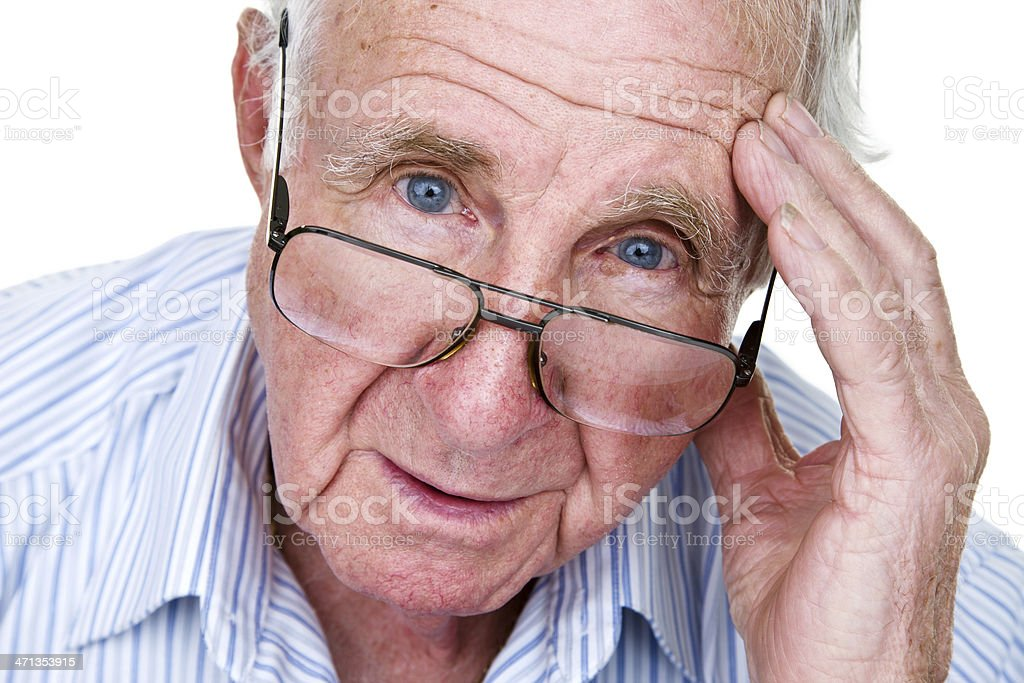 Troubled elderly man royalty-free stock photo