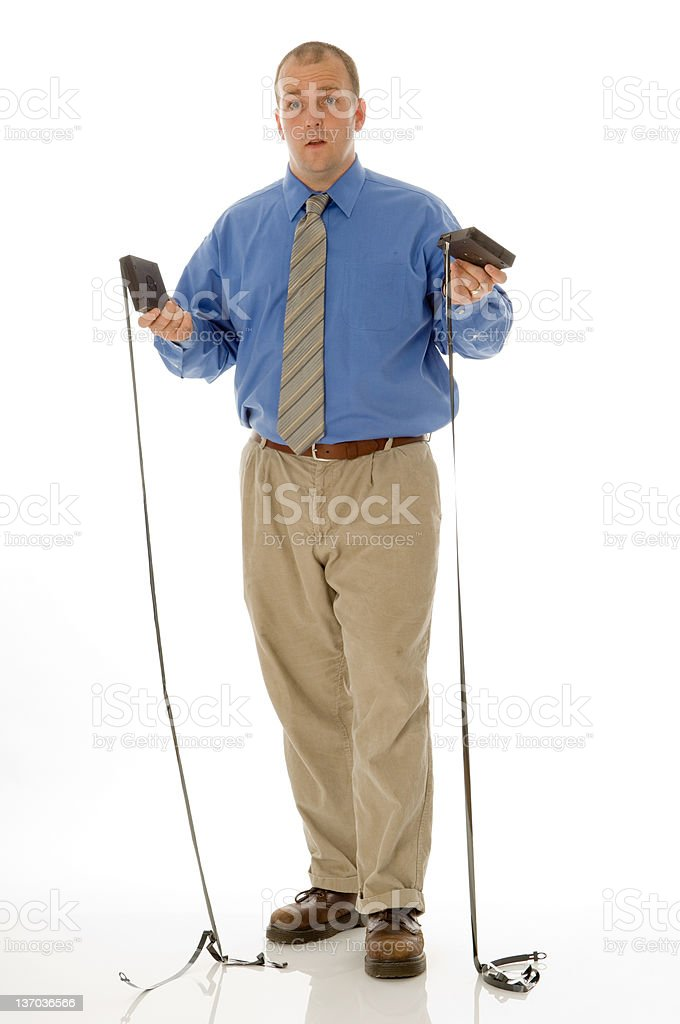 Troubled IT Professional stock photo