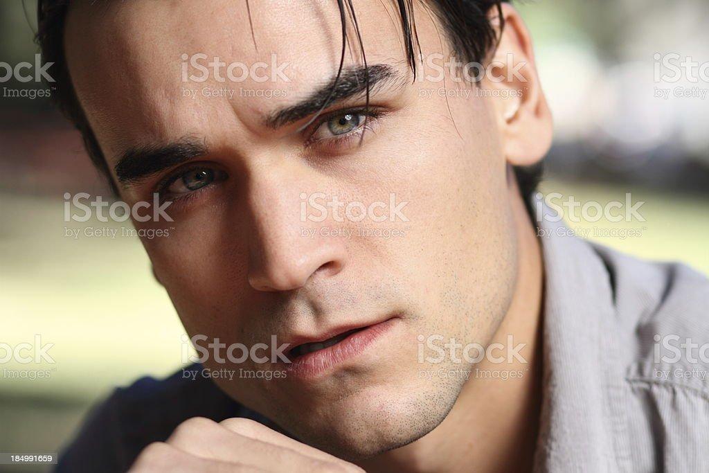 Troubled Man ECU royalty-free stock photo