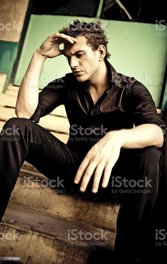 troubled stock photo