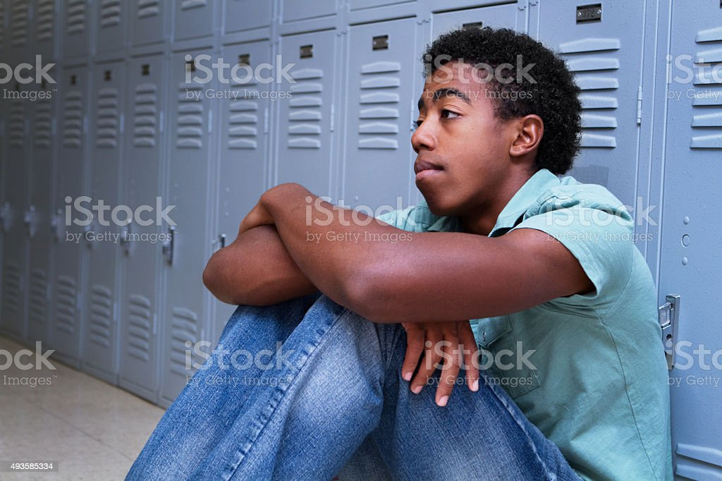 Troubled Teenager stock photo