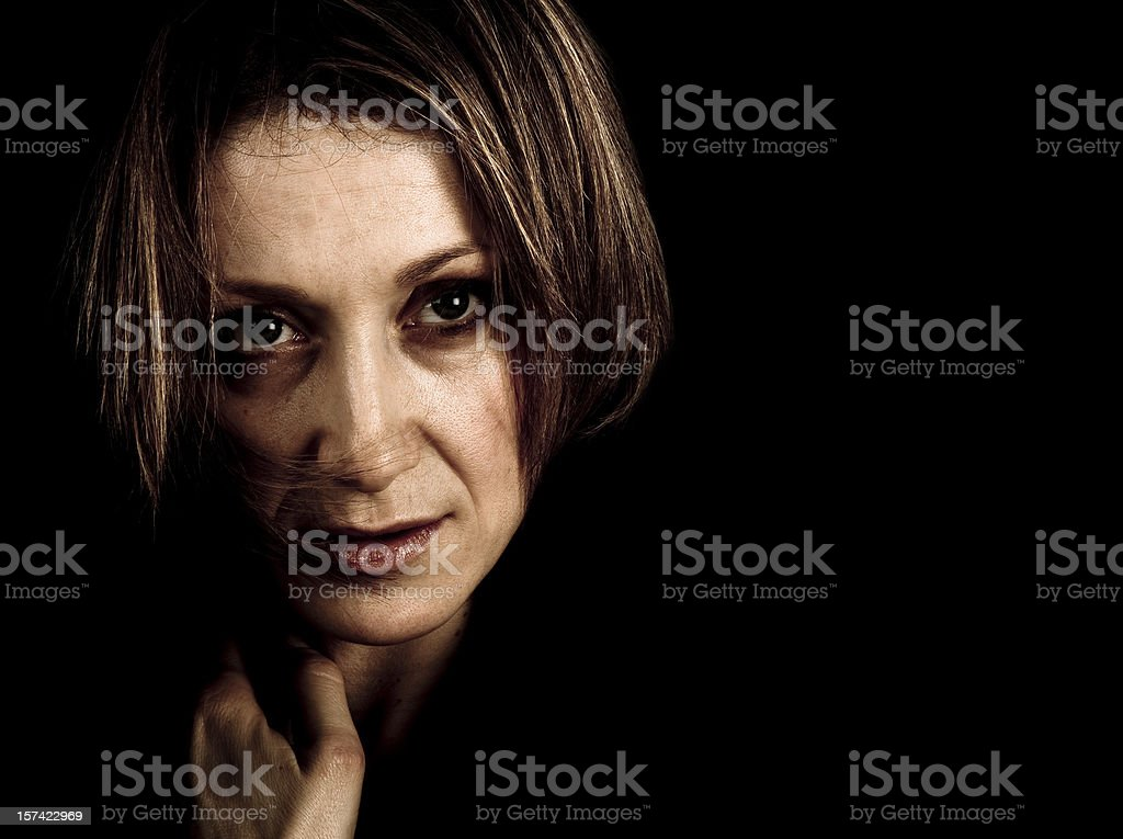 Troubled woman royalty-free stock photo