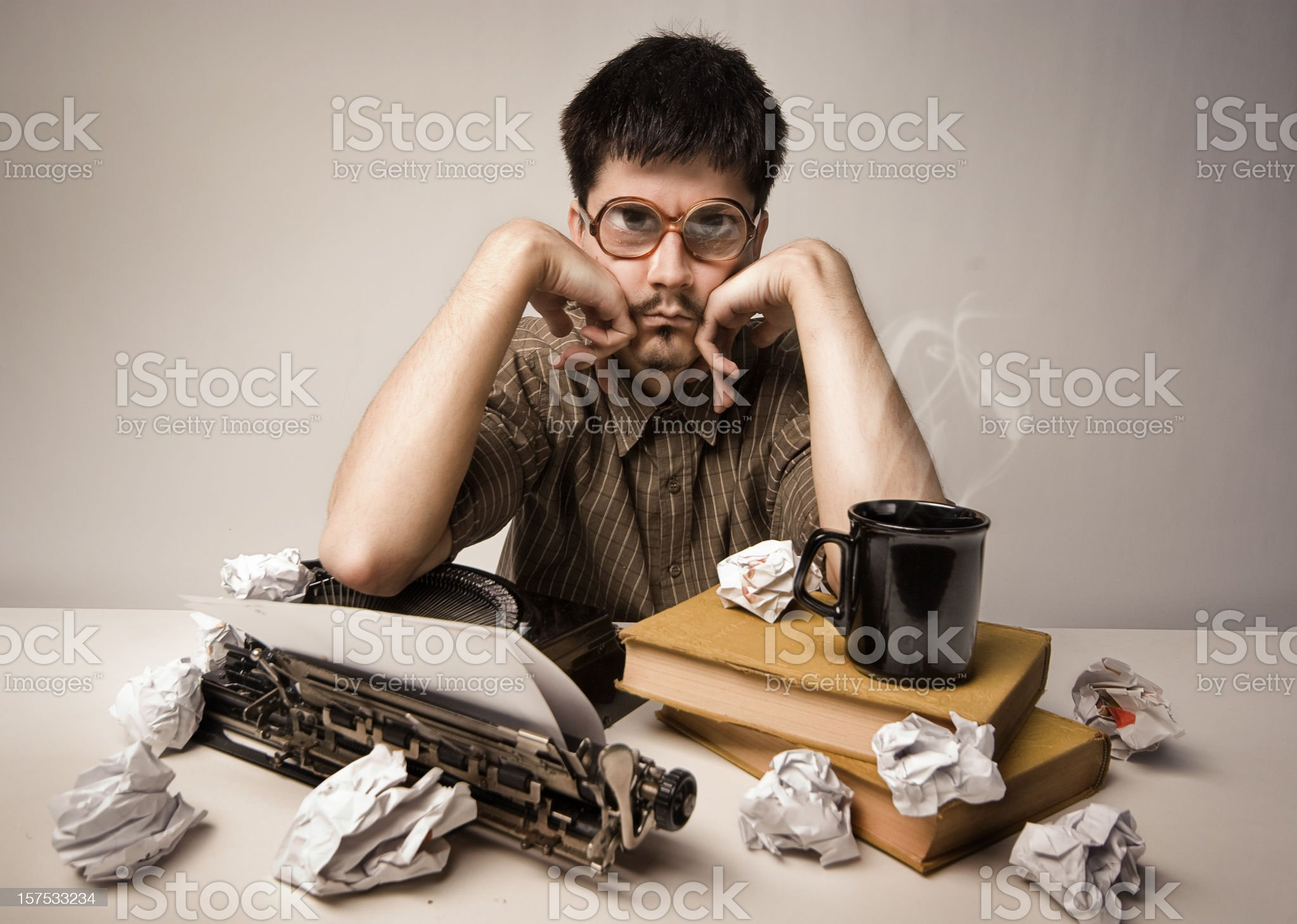 Troubled writer royalty-free stock photo