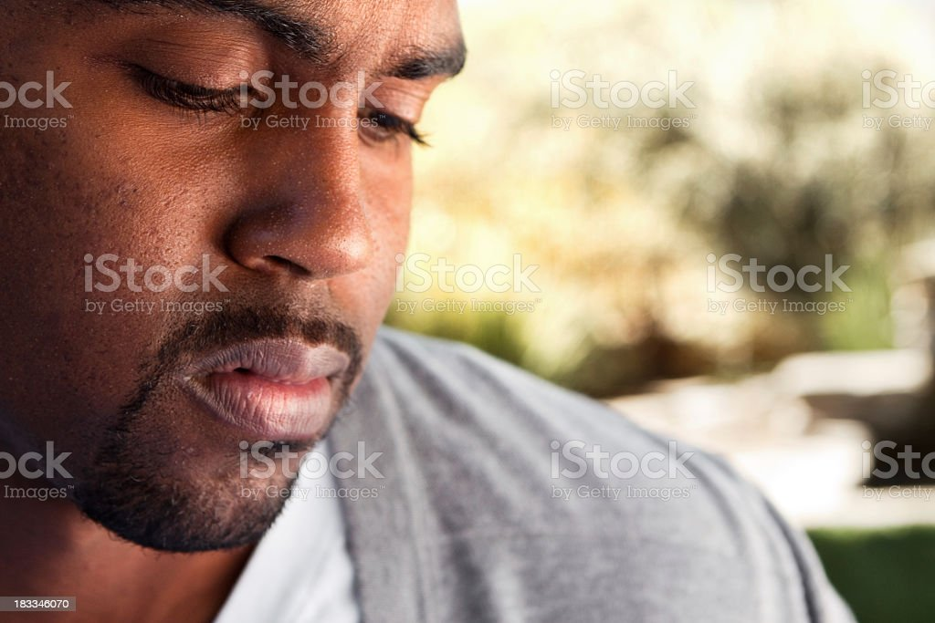 Troubled young man stock photo