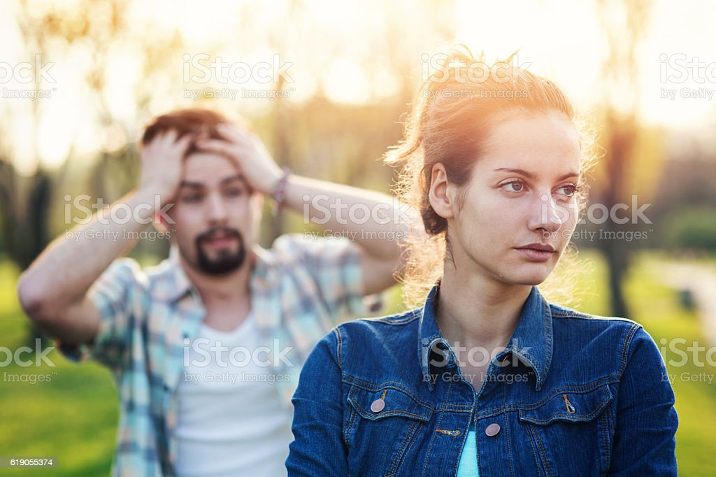 Troubles in the relationship stock photo