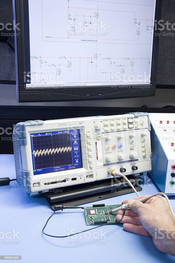 Troubleshooting Electronic Circuit royalty-free stock photo