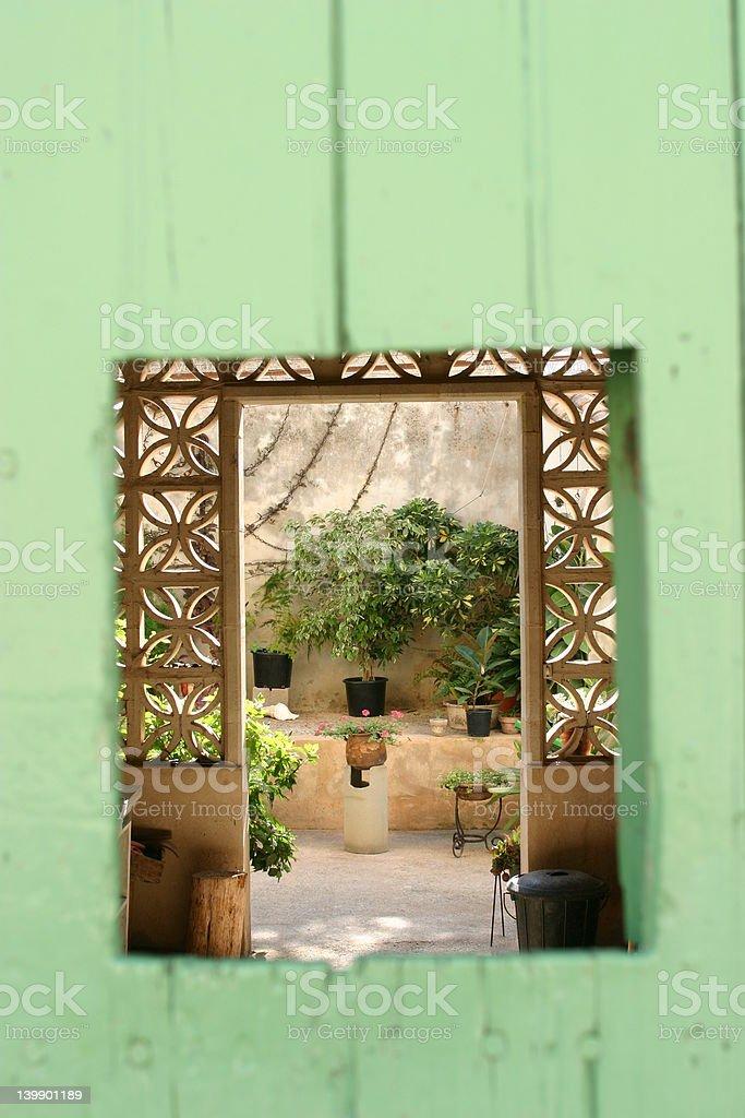 trough the door stock photo