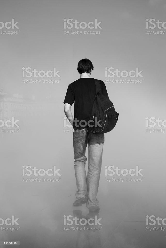 Trough the mist stock photo