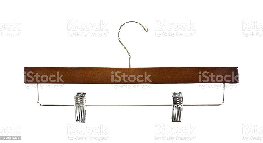 Trouser hanger stock photo