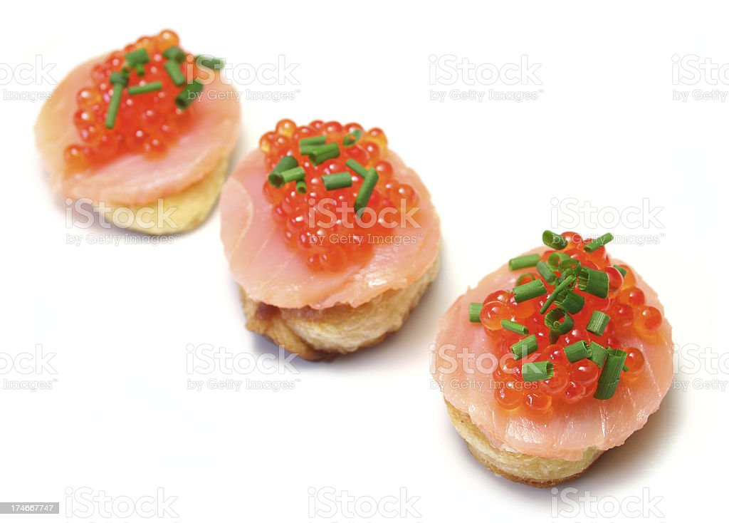 Trout Caviar royalty-free stock photo