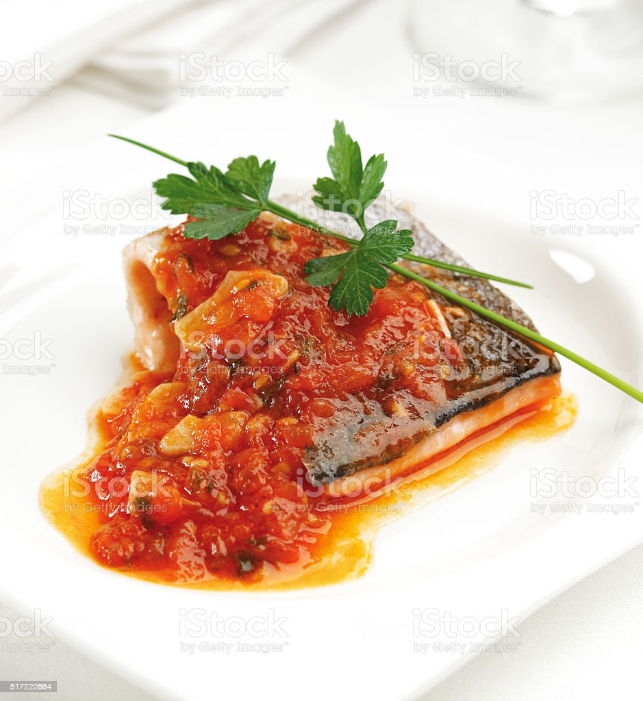 Trout fillet stock photo