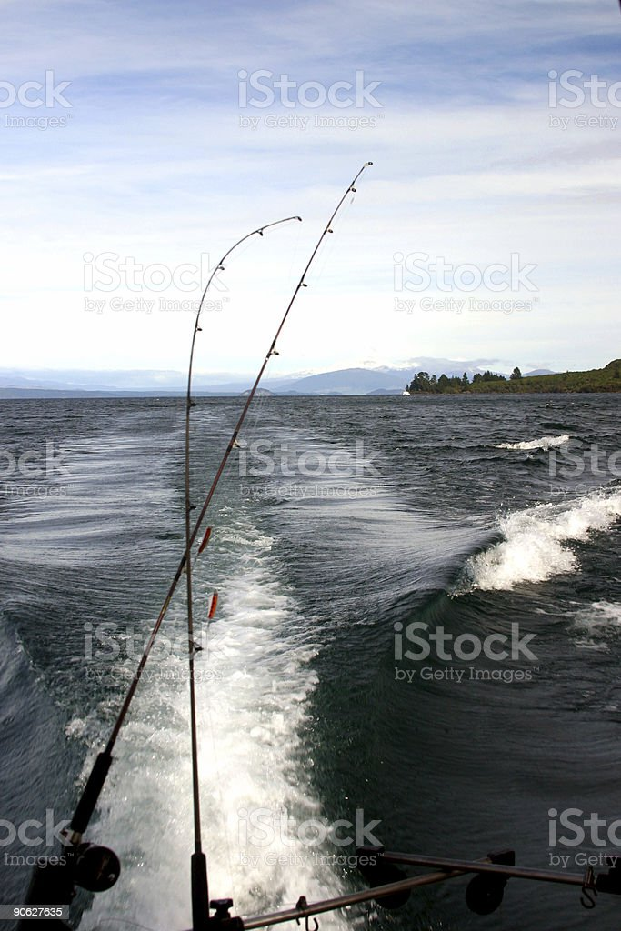 Trout fishing royalty-free stock photo