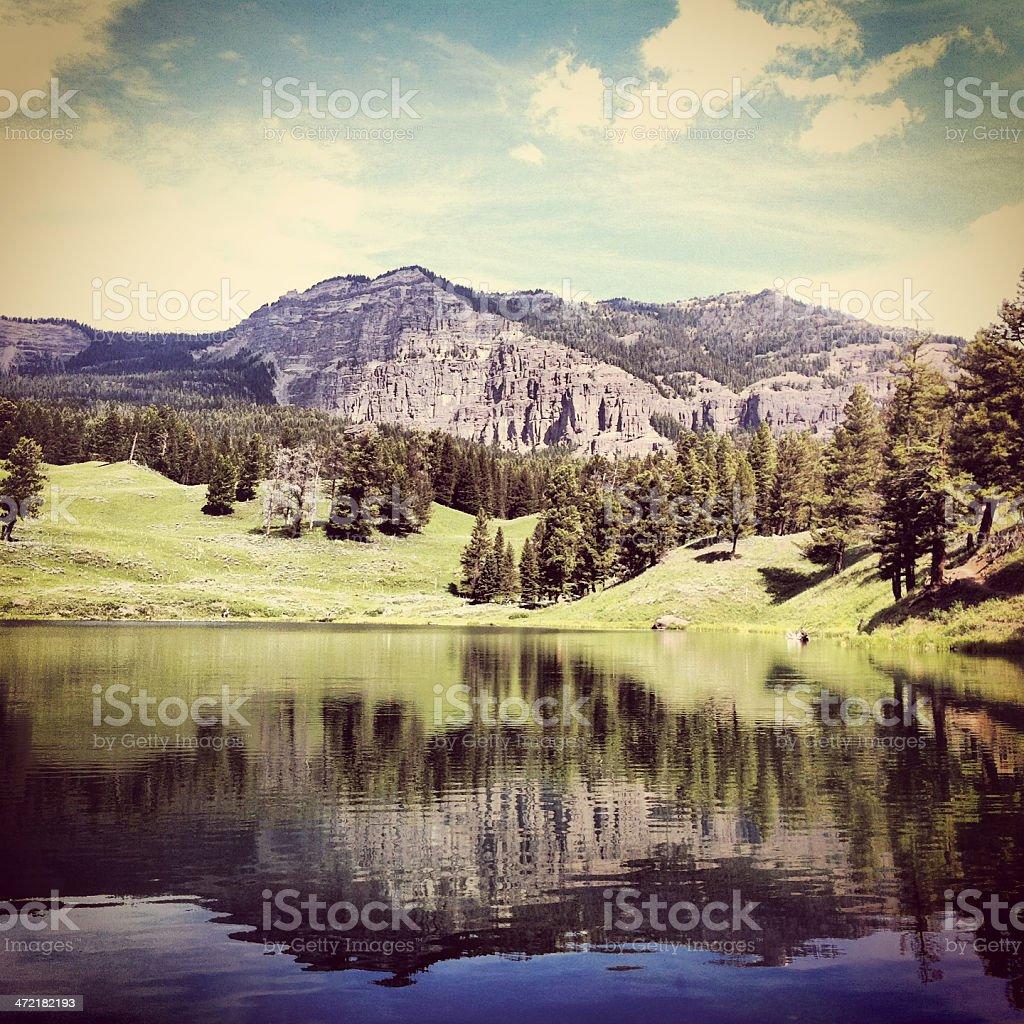 Trout lake royalty-free stock photo