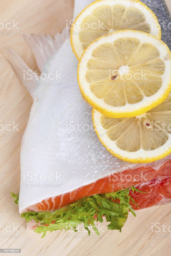 Trout on board royalty-free stock photo