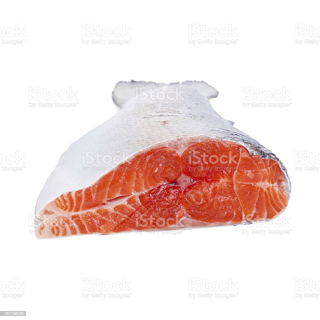 Trout on white royalty-free stock photo