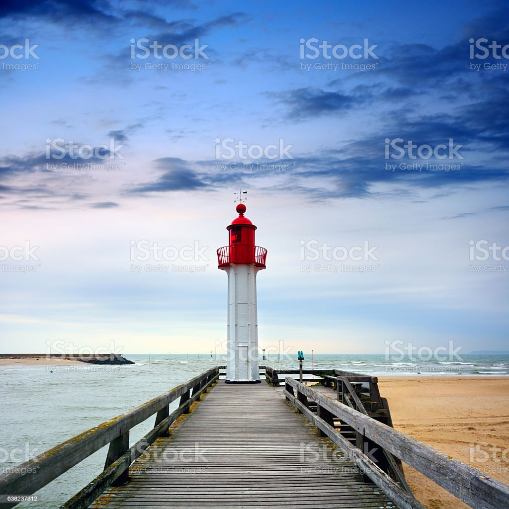 Trouville-sur-Mer Lighthouse, France stock photo