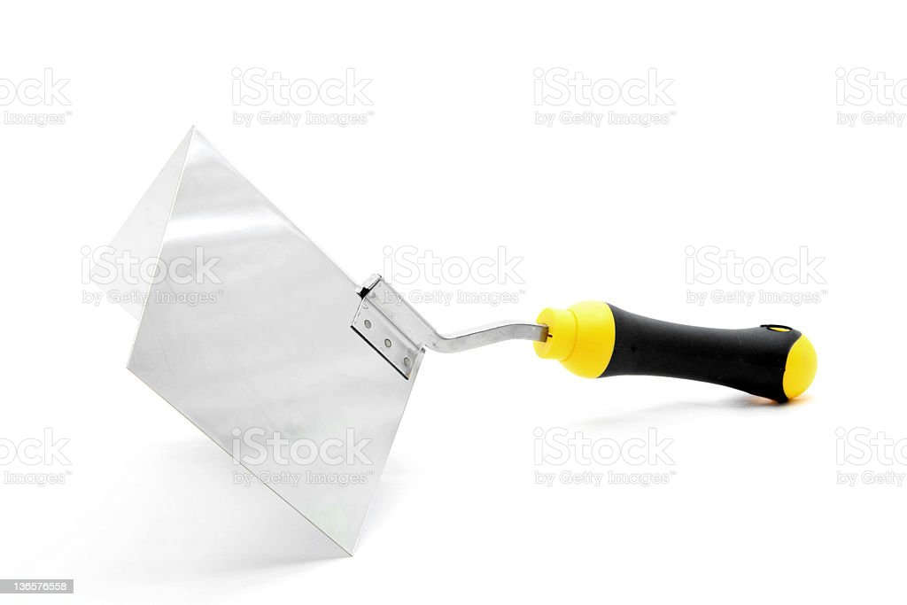 trowel for construction royalty-free stock photo