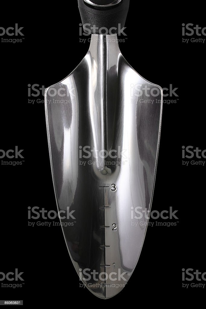 Trowel, with clipping path stock photo