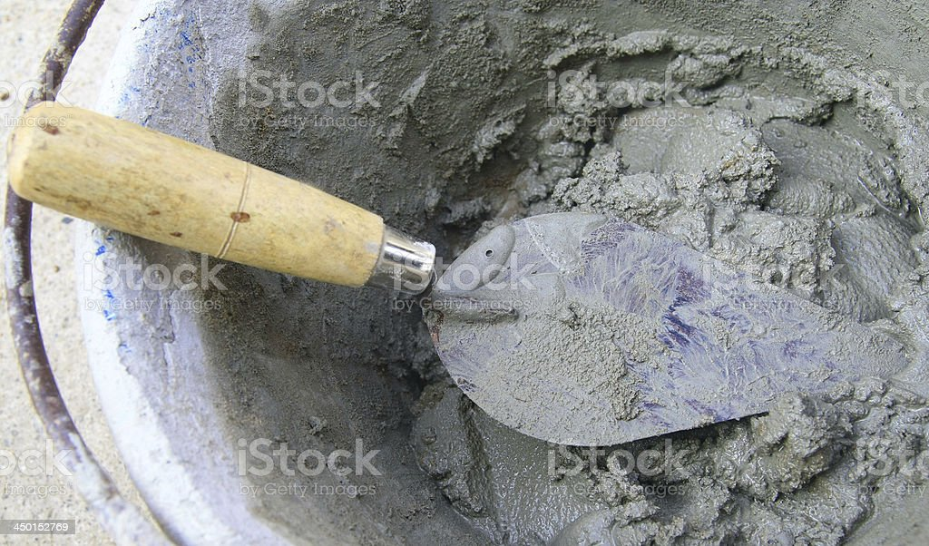 Troweling Concrete royalty-free stock photo