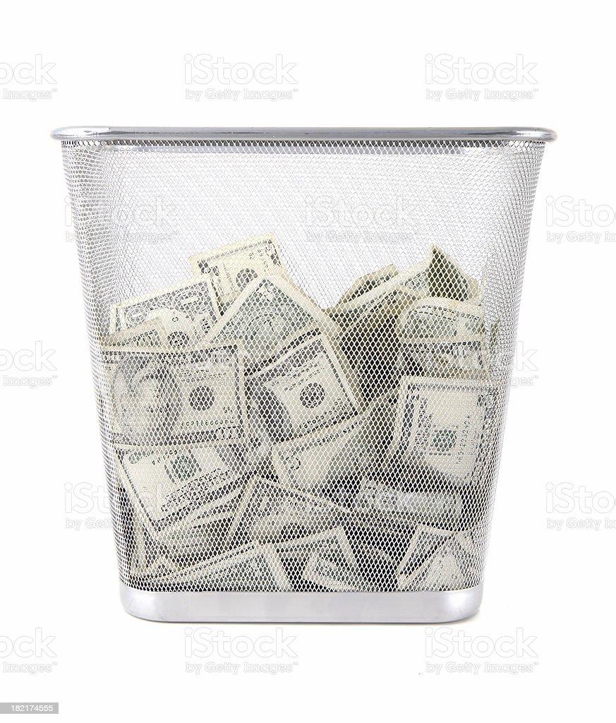 Trowing Money Away royalty-free stock photo