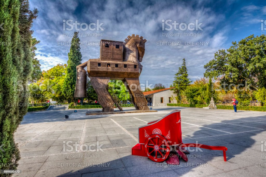 Troy Ancient City in Turkey stock photo