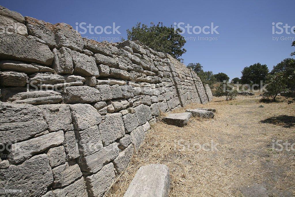 Troy Ancient City stock photo