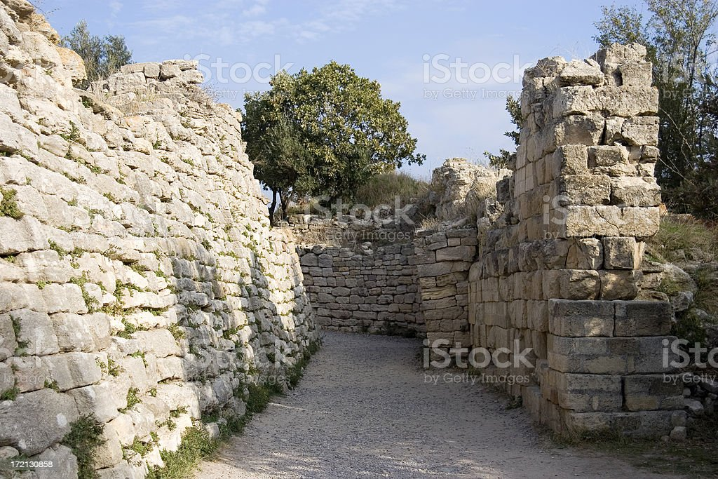 Troy archaeological site, Turkey. stock photo