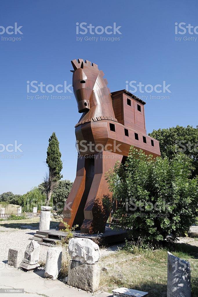 Troy horse monument stock photo