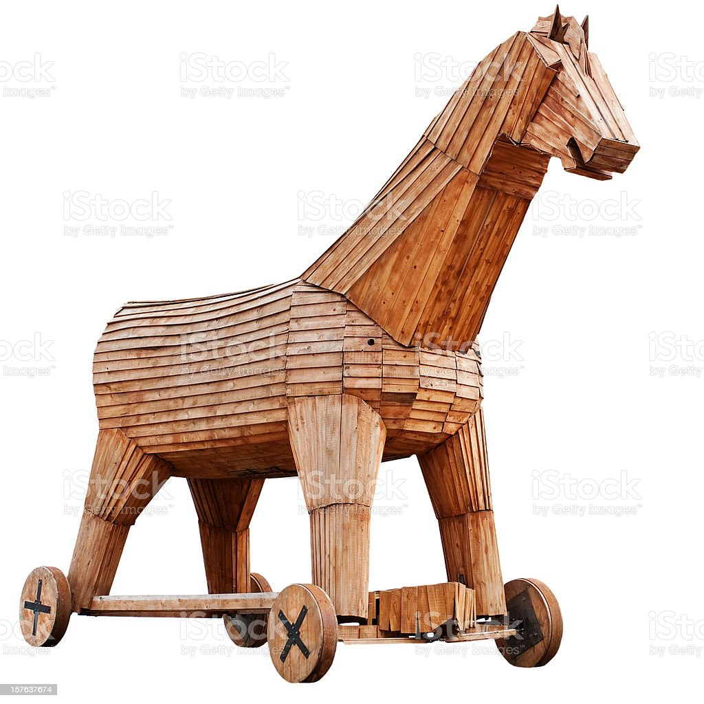 Troy horse royalty-free stock photo