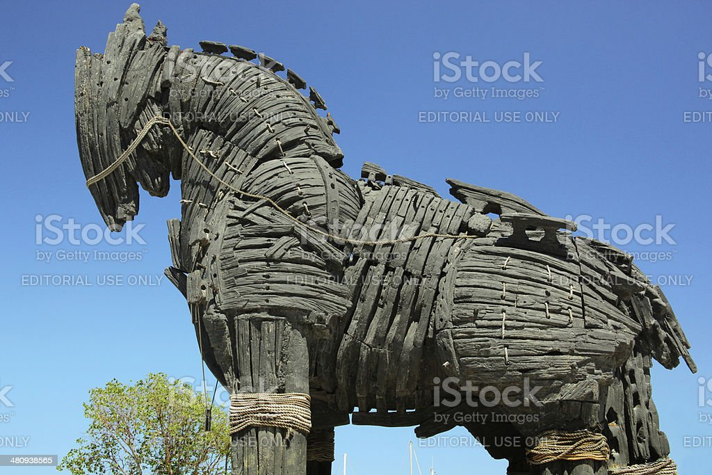 Troy Horse stock photo