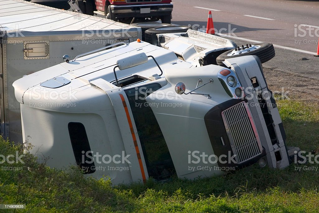 Truck Accident Crash royalty-free stock photo