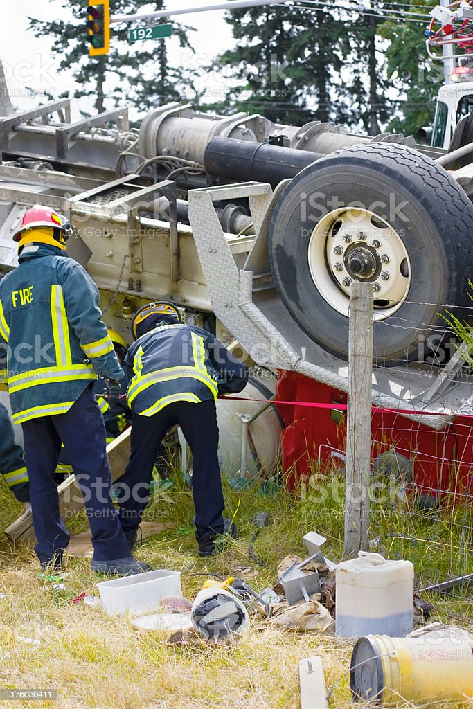 Truck Accident stock photo