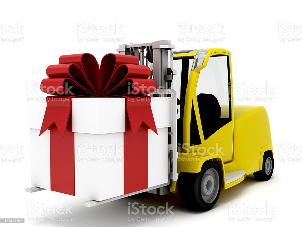 truck and present royalty-free stock photo