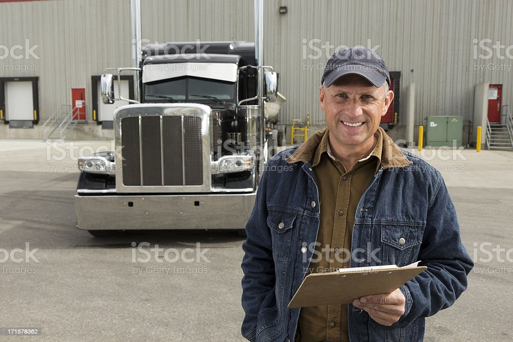 Truck and Warehouse royalty-free stock photo