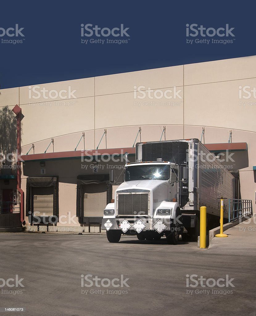 Truck at loading bay Vertical Crop royalty-free stock photo
