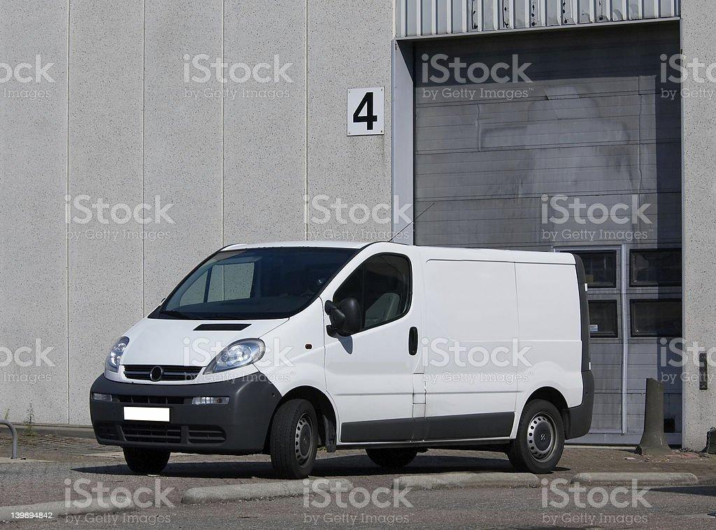 Truck at loading dock royalty-free stock photo