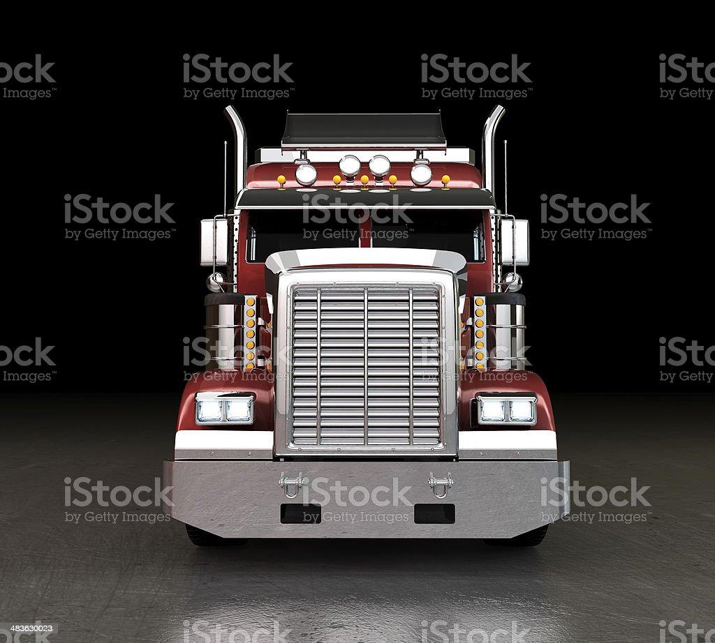 Truck at night royalty-free stock photo