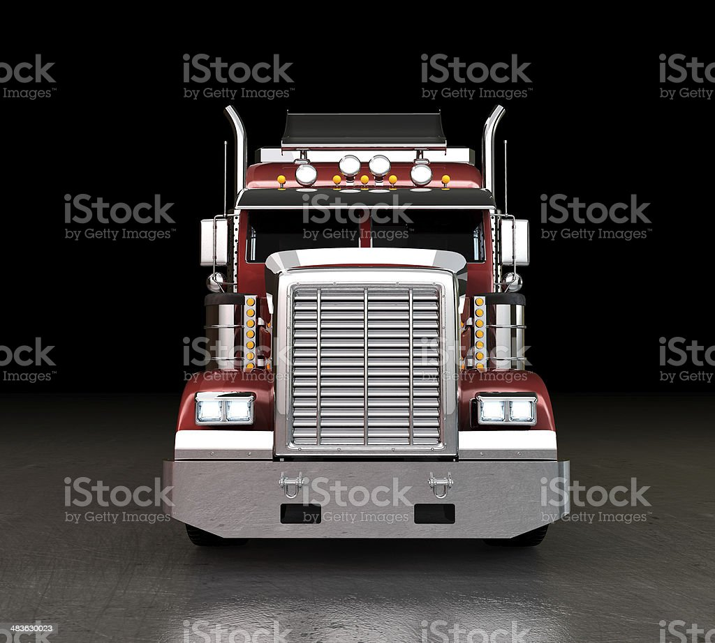Truck at night stock photo