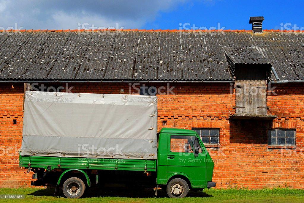 Truck at the farmyard royalty-free stock photo