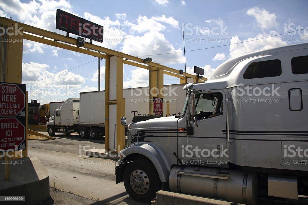 Truck Border Crossing royalty-free stock photo