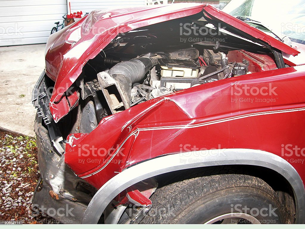 Truck collision royalty-free stock photo
