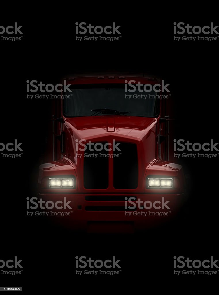 Truck coming head-on stock photo