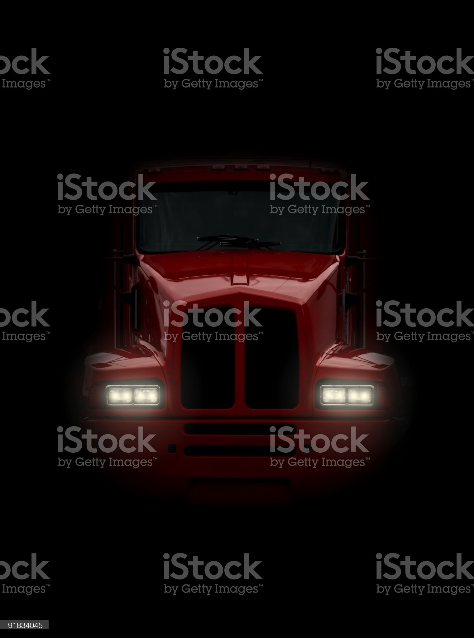Truck coming head-on royalty-free stock photo
