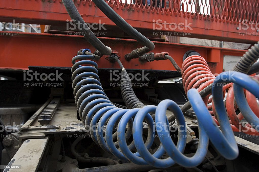 truck connection coils stock photo
