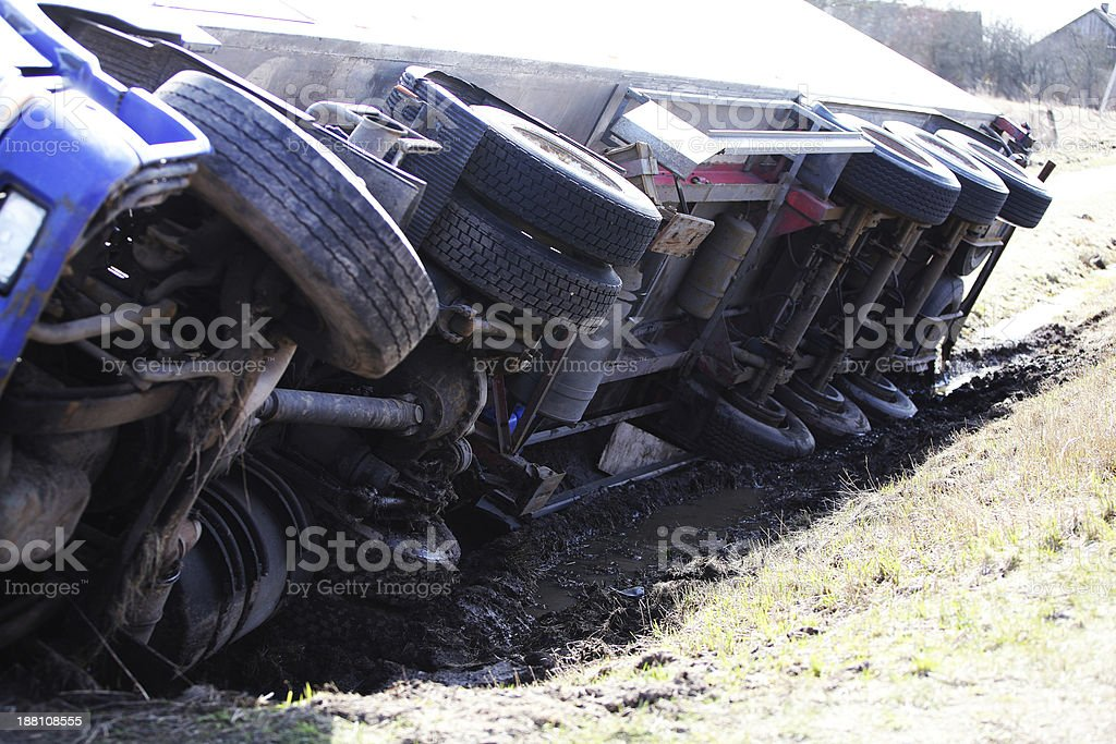truck crash stock photo